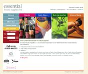 Example of our Web-Design UK online ecommerce web site we designed for Essential Beauty Supplies