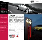 Example of the website we bespoke designed for JFE Nissan, a client based in Devon