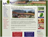 Screenshot of the Web-Design UK web site Oake Manor