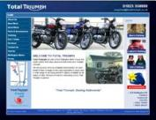 Example of the online car stock list bespoke web site for Total Triumph, near Taunton